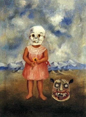 Menina Com A Máscara Da Morte Girl with Death Mask