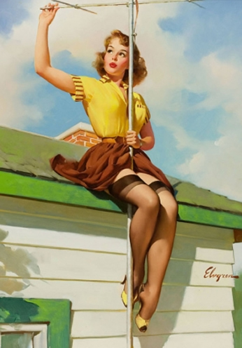 Good to See by Gil Elvgren