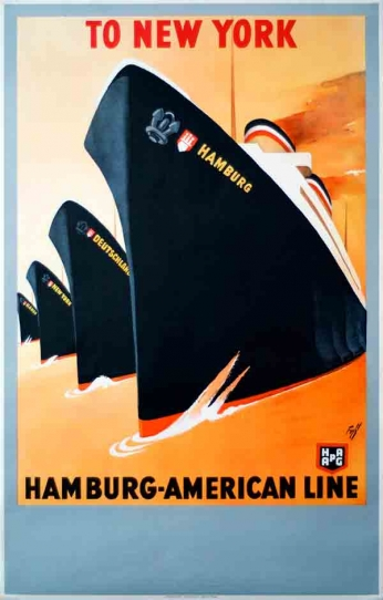 Hamburg-American Line - To New York