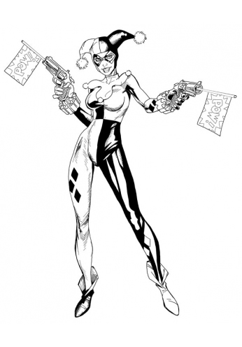Harley Quinn - Black and White