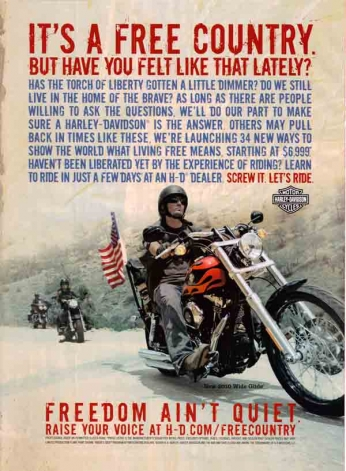 Harley-Davidson It's a Free Country