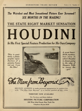 Poster Houdino The Man From Beyond.