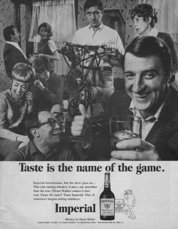 Poster Imperial Whiskey, November 1968.