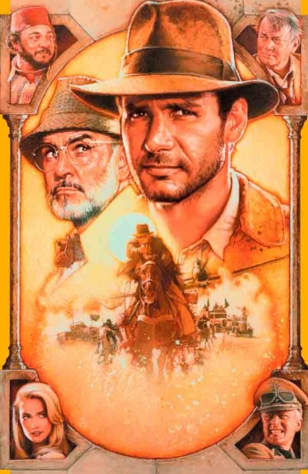 Indiana Jones and the Last Crusade - Art Poster