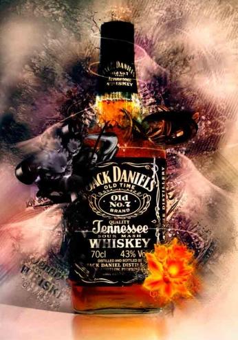 Jack Daniel's - Grunge Flowers