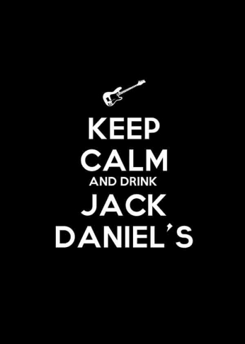 Jack Daniel's - Keep Calm and Drink Jack Daniel's - Guitar