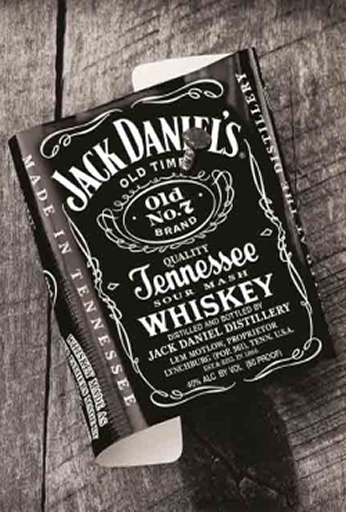 Jack Daniel's - Label on Wood