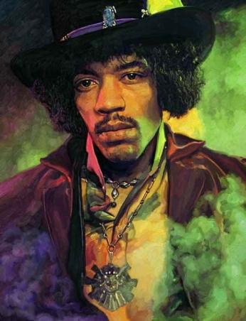Jimi Hendrix - Painting - 02