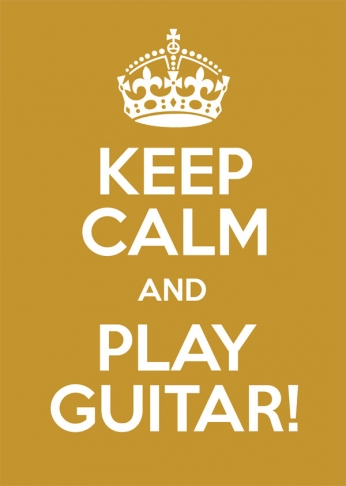 Keep Calm and Play Guitar - 01