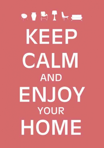Keep Calm and Enjoy Your Home (Red)