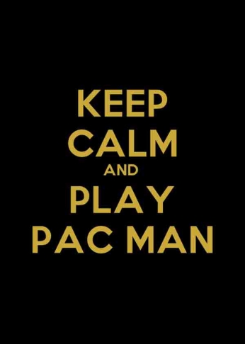 Poster Keep Caml and Play Pac Man.