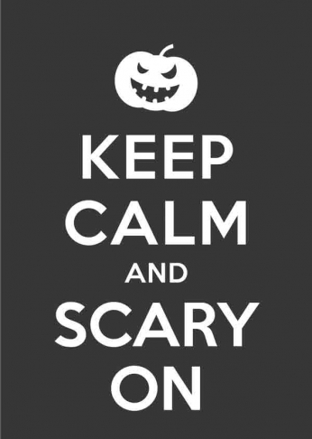 Keep Calm and Scarry On (Pumpkin)