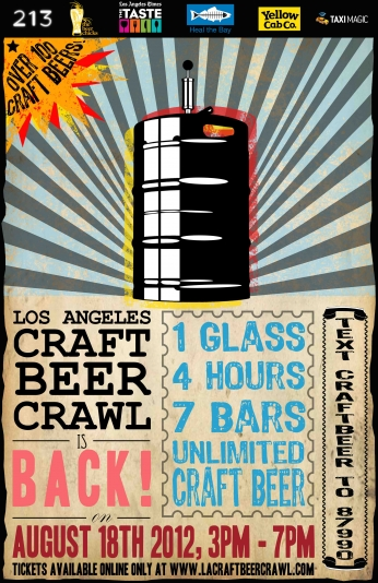 Poster LA Craft Beer Crawl.