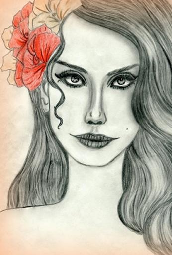 Lana Del Rey Paint