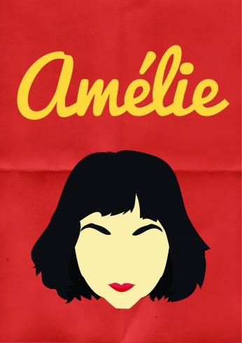 Le Fabuleux Destin d'Amélie Poulain Red Minimalist.