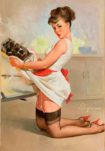 Let's Eat Out by Gil Elvgren