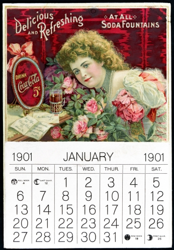Hilda Clark Calendar Coke January