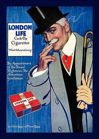 London Life - Cork Tip Cigarettes (1922).