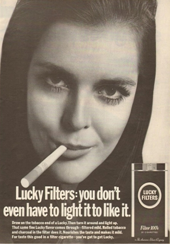 Poster Lucky Filters, May 1968.