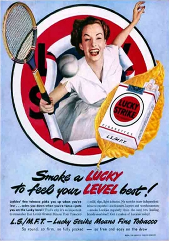 Lucky Strike - Smoke a Lucky to Feel Your Level Best - 1958
