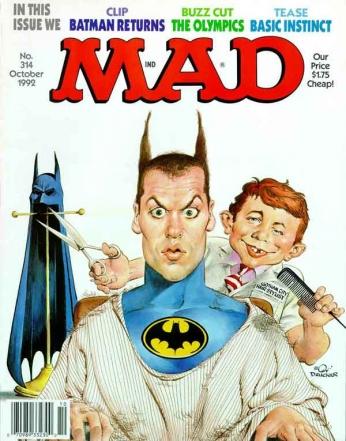 Capa da revista de humor Mad de outubro de 1992.