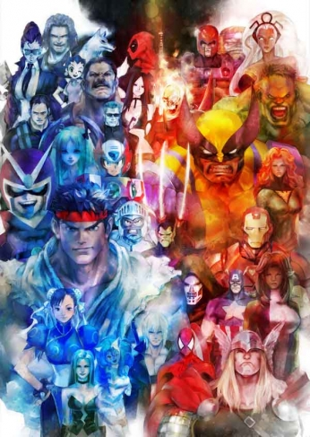 Marvel vs Capcom 3 - Art Poster