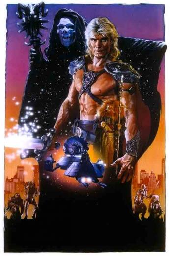 Filme: Masters of the Universe (Mestres do Universo, 1987). Direção: Gary Goddard. Elenco: Dolph Lundgren, Frank Langella e Meg Foster.