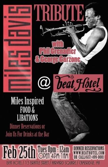 Miles Davis Concert Poster.