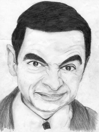 Mr. Bean Caricatura.