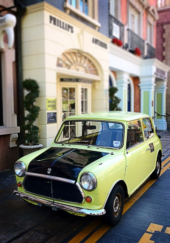 Mr. Bean's Mini Cooper Universal.