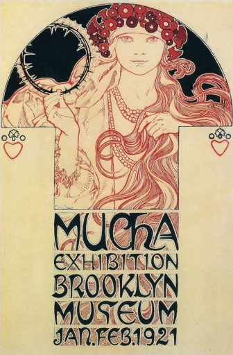 Mucha-Exhibition - Brooklyn Museum - 1921