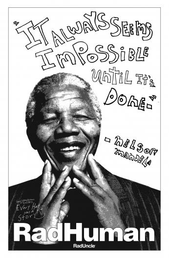 Nelson Mandela RadHuman Posters.