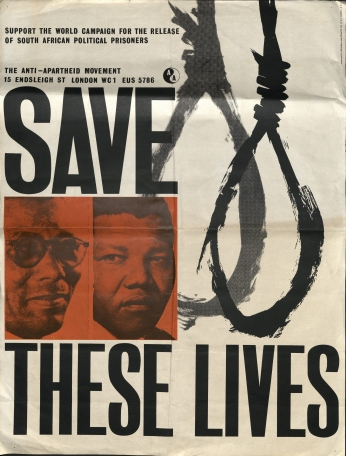 Poster Nelson Mandela Save These Lives..