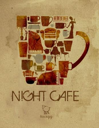 Night Café Poster