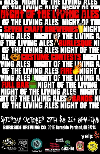 Poster Night of the Living Ales.