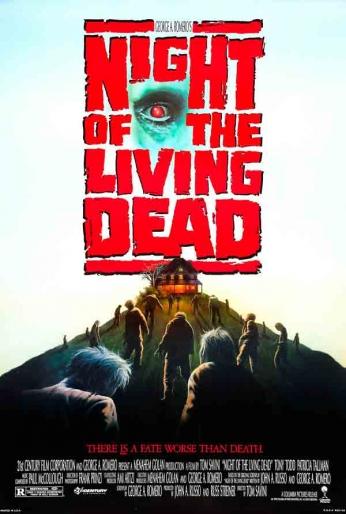 Filme: Night of the Living Dead (A Noite dos Mortos-Vivos, 1990). Direção: Tom Savini. Elenco: Tony Todd, Patricia Tallman e Tom Towles.