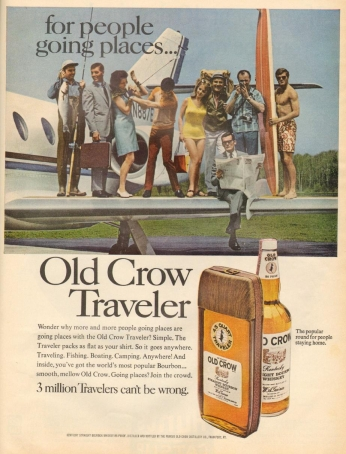 Poster Old Crow Traveler, July 1968.