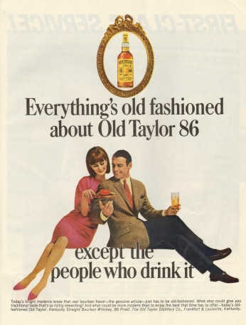 Poster Old Taylor 86, August 1965.