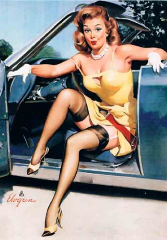 Ooops by Gil Elvgren (1957)