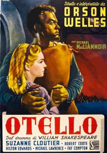 Filme: Otello (1952). Direção: Orson Welles. Elenco: Orson Welles, Micheál MacLiammóir, Robert Coote.