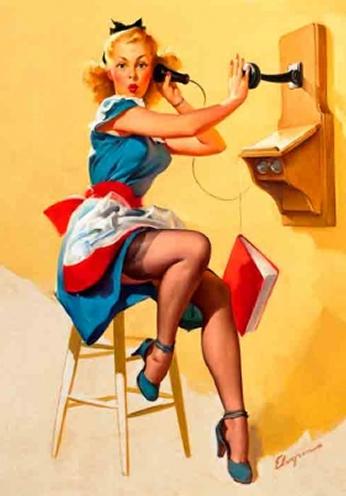 Phone Surprise by Gil Elvgren