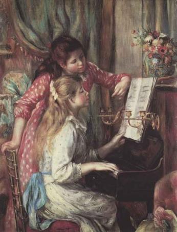 Pierre-Auguste Renoir - Garotas ao Piano - 1892
