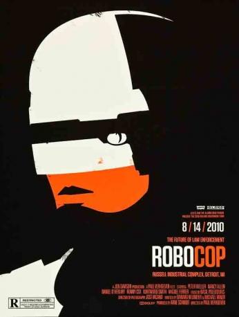 Filme: Robocop (Robocop - O Policial do Futuro, 1987). Direção: Paul Verhoeven. Elenco: Peter Weller, Nancy Allen e Dan O'Herlihy.