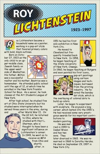 Poster Roy Lichtenstein Life.