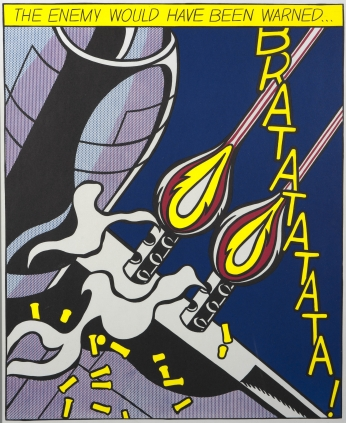Poster Roy Lichtenstein Opened Fire.