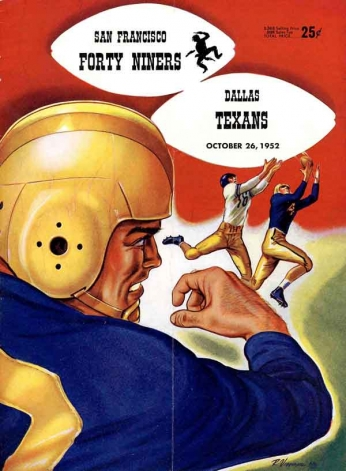 San Francisco Forty Niners vs Dallas Texans - 1952