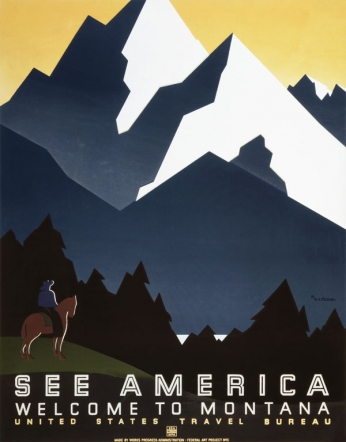 See America - Welcome to Montana - 1937