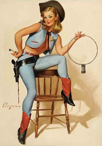 Sheriff for You by Gil Elvgren