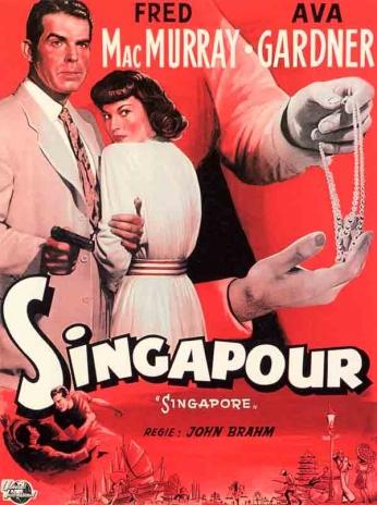 Filme: Singapore (Singapura, 1947). Direção: John Brahm. Elenco: Fred MacMurray, Ava Gardner e Roland Culver.