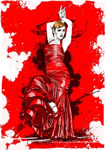 Spanish Dancer - Vector Art